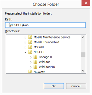 Copying files from another directory – Aion Support